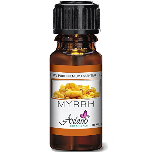 100% Pure Myrrh Essential Oil - Ultra Premium Undiluted Myrrh Oil By Aviano Botanicals - 10ml