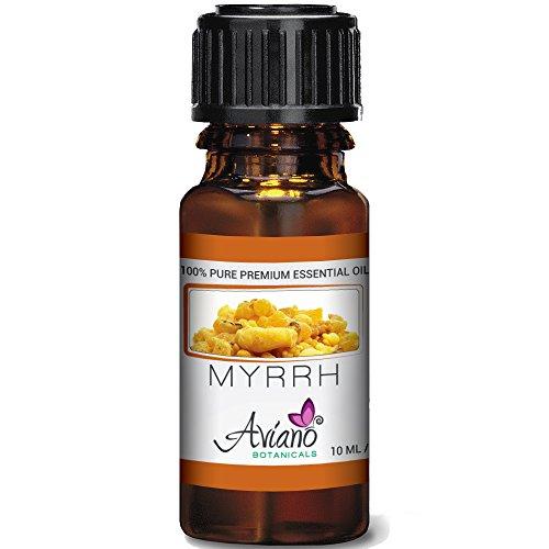 100% Pure Myrrh Essential Oil - Ultra Premium Undiluted Myrrh Oil By Aviano Botanicals - 10ml