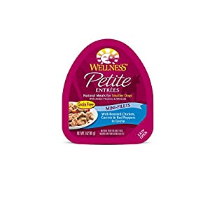 Wellness Natural Pet Food Petite Entrees Mini-Filets Natural Grain Free Wet Dog Food, Roasted Chicken Recipe, 3 Ounce