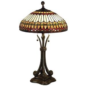 quoizel west end tiffany 2 light table lamp for sale. Black Bedroom Furniture Sets. Home Design Ideas