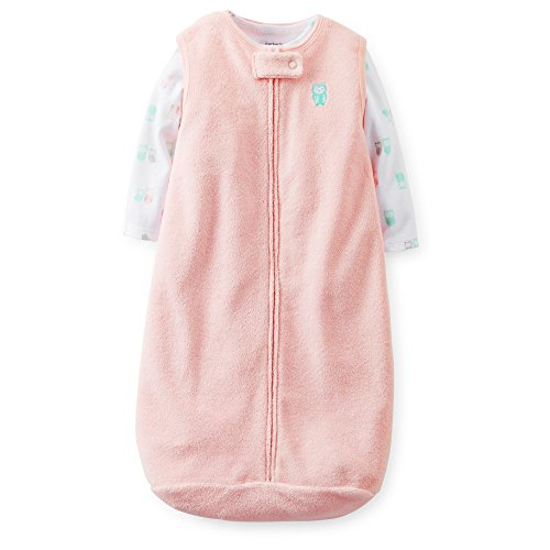 Carter's Baby Girls' Terry Sleepbag and Tee Set - 1