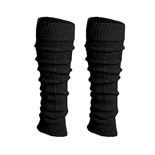 mianovar-1-paar-damen-strick-wolle-stulpen-zopfmuster-bein-armstulpen-warm-weich-schwarz