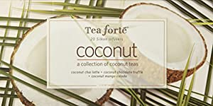 Tea Forte Coconut Collection Ribbon Box - 20 Silken Pyramid Infusers