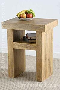 Mantis Light Natural Solid Mango Side Table       review and more description