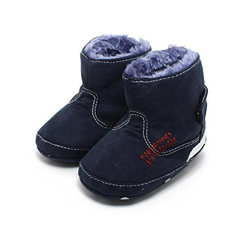 Itaar Baby Boots Soft Fur Winter Warm Unisex Infant Toddler Fleece Shoes