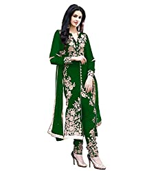 Diya Women's Green Georgette Designer Dress Materials [DS_JCN1031A_D]