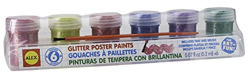 ALEX Toys Artist Studio 6 Glitter Paints with Tray and Brush