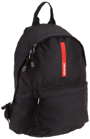 Everest Luggage Stylish Backpack, Black, Medium