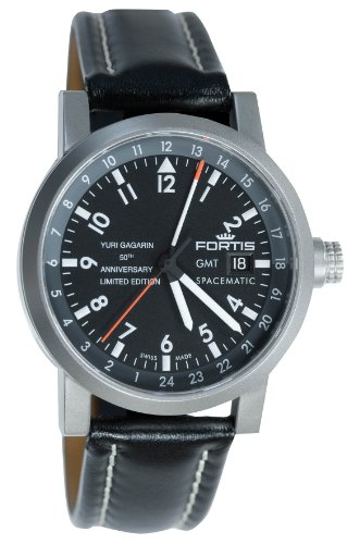Fortis Men's 624.22.11 YGE L Limited Edition Gagarin Automatic Date Leather Watch