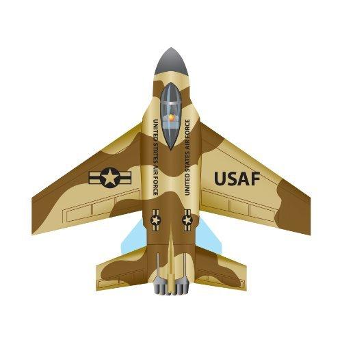 """WindNSun Microjet Mini Mylar 4.7"""" F-16 Fighting Falcon Wide Kite"""