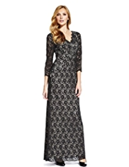 M&S Collection Floral Lace Maxi Dress