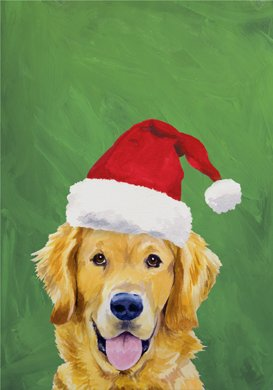 Golden Retriever - Barbara Van Vliet Christmas Garden Flag