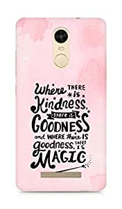 AMEZ where there is kindness there is goodness Back Cover For Xiaomi Redmi Note 3