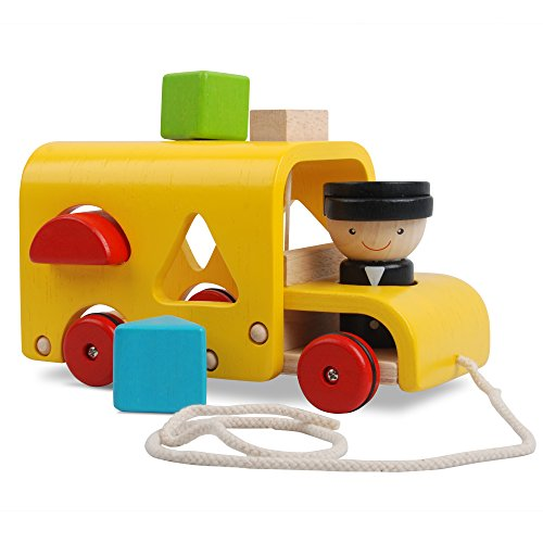 Plan Toy Sorting Bus (Wood Toy Bus compare prices)