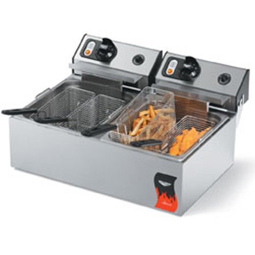 Vollrath (40707) - 20 Lb Standard-Duty Electric Split-Pot Countertop Fryer-Cayenne Series