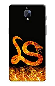 KanvasCases Cover for one plus 3 - Fire Snake