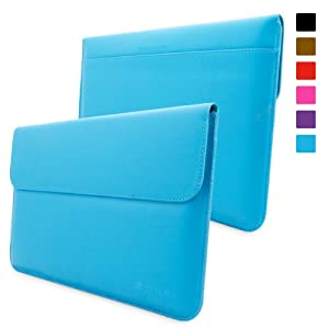 Snugg Surface Pro 1 & 2 Case - Leather Sleeve with Lifetime Guarantee (Cyan) for Microsoft Surface 1 & 2, RT & Pro