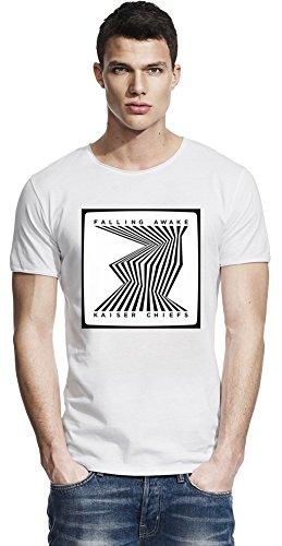 Kaiser Chiefs Falling Awake Bordo grezzo T-shirt Men Raw Edge T-Shirt Stylish Fashion Fit Custom Apparel By Genuine Fan Merchandise Medium