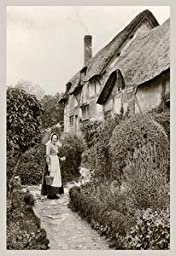 30 x 20 Stretched Canvas Poster Ann Hathaway\'s Cottage