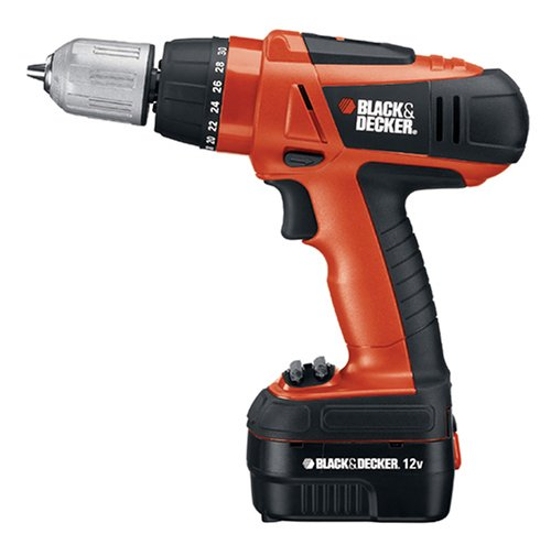 Black & Decker HPD12K-2 12-Volt Ni-Cad 3/8-Inch Cordless Drill/Driver Kit