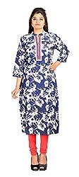NARANGI DARK BLUE CRAPE Kurti For Girls/Women