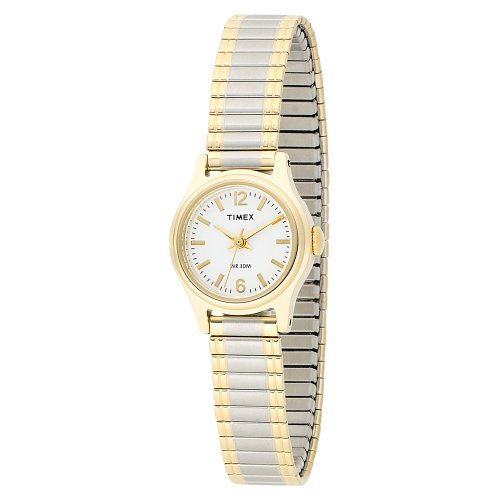 Timex Women's T53822 Elevated Classics Dress Two-Tone Expansion Band Watch