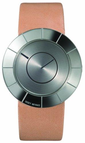 Issey Miyake 371LAN005 - Reloj unisex de cuarzo, correa de piel color plata