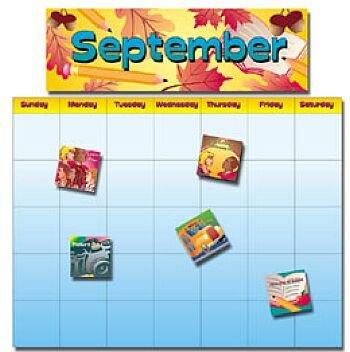 All-Year School Calendar Bulletin Board Set