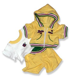 41CSKf8V%2BrL Cheap Buy  Yellow Sweat Suit with Pink and Green Trim Outfit Teddy Bear Clothes Fit 14   18 Build a bear, Vermont Teddy Bears, and Make