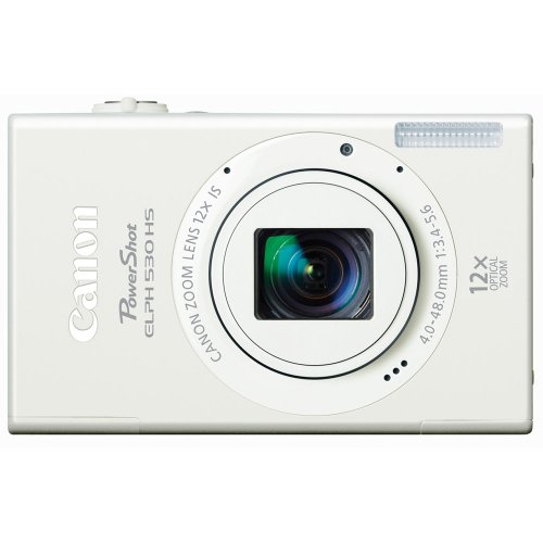 Canon Powershot Elph 530 Hs 10.1 Mp Wi-Fi Enabled Cmos Digital Camera With 12X Optical Image Stabilized Zoom 28Mm Wide-Angle Lens With 1080P Full Hd Video And 3.2-Inch Touch Panel Lcd (White) front-608416