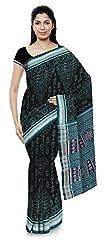 Laumunda Wcs Ltd Women's Cotton Saree with Blouse Piece (Blue and Black)