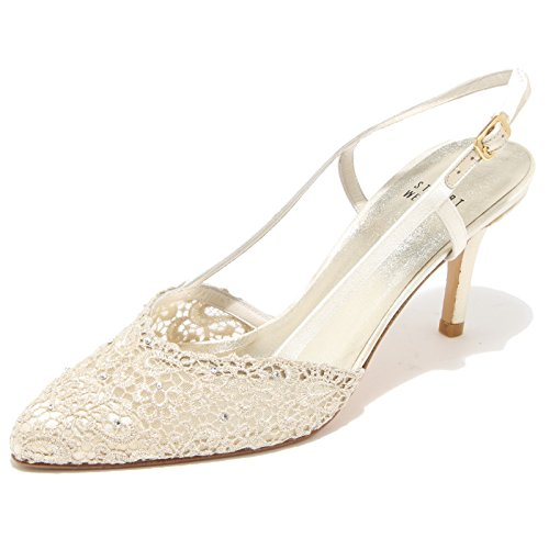 86163 decollete STUART WEITZMAN LADY GOLD SWISS scarpa donna shoes [36]