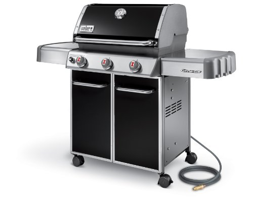 Weber Genesis 6611001 E-310 637-Square-Inch 38,000-BTU Natural-Gas Grill, Black