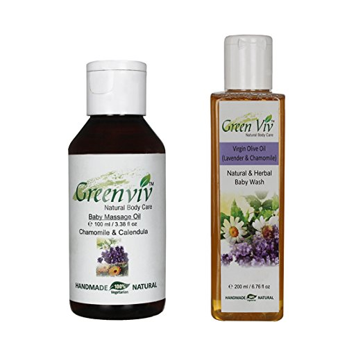 Greenviv Natural Combo Of Virgin Olive Oil (Lavender & Chamomile) Body Wash (200 Ml) With Natural & Herbal Oil...