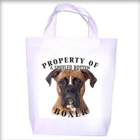 Boxer Uncropped Property Shopping - Dog Toy - Tote Bag