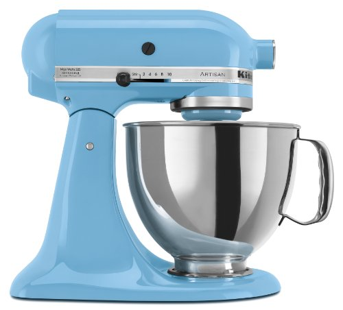 KitchenAid KSM150PSCL Artisan Series 5-Quart Mixer, Crystal Blue