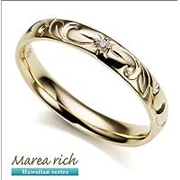 マレア リッチ Hawaiian series K10 ハワイアンモチーフ リング ゴールド×ダイヤモンド 10号 11KJ-06(並行輸入品)