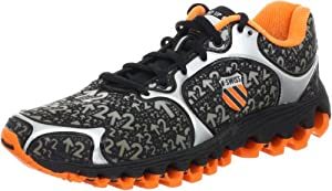 K-Swiss Men's Tubes 100 Dustem Running shoe,Black/Orange,10.5 M US