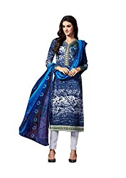 Aarushi Fashion Blue Colored Pure Lawn Cambric Printed Suit.