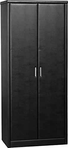 Piel sintética de color negro para puerta armario 2