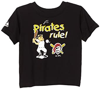 MLB Infant/Toddler Boys' Pittsburgh Pirates Game Sweep Tee (Black, 18 Months)