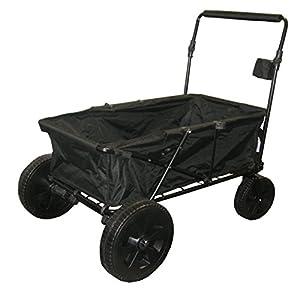 Utility Beach Cart Wagon (CHOOSE COLOR)(Black) : Patio, Lawn & Garden