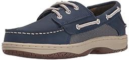 Sperry Top-Sider Billfish Boat Shoe (Little Kid/Big Kid), Navy, 5.5 M US Big Kid