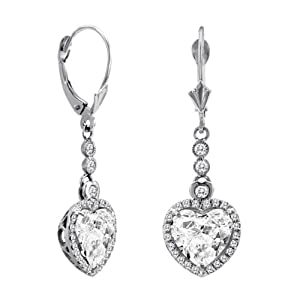 5.07 CT F-G/VS-2 Natural Diamond Drop Earrings set in 18K White Gold