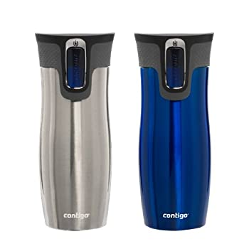 Contigo AUTOSEAL West Loop Stainless Steel Travel Mug with Easy-Clean lid Never spill another drop! Designed to be 100-percent leak-proof, Contigo's innovative AUTOSEAL technology lets you take beverages on-the-go without the risk of a messy spi...