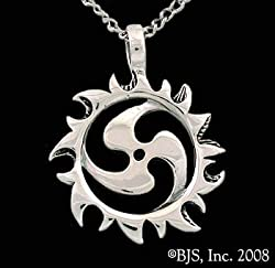 Sterling Silver Sol Goddess Necklace -Goddess Jewelry