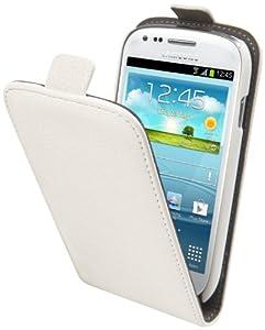 Muvit MUSLI0126 Etui à clapet avec Film de Protection d'écran pour Samsung Galaxy Mini S3 Blanc