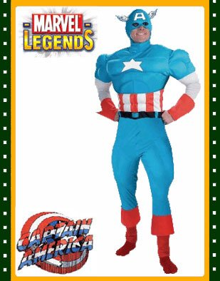 Disguise Men's Marvel Captain America Classic Muscle Costume