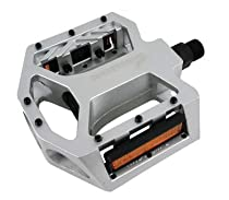 "BLACK-OPS CNC STYLE ALLOY SEALED BEARINGS BULLETPROOF SILVER BMX/MTB PEDALS 9/16""."