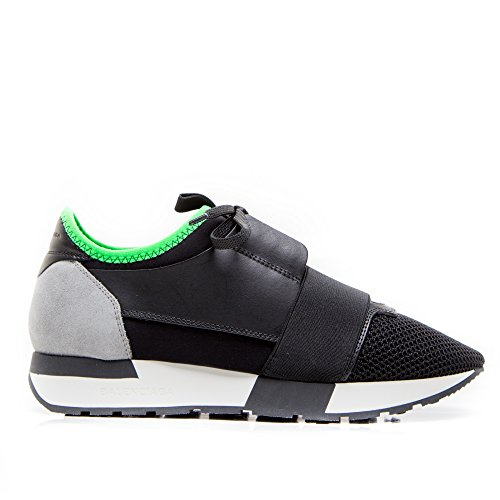 balenciaga-womens-433294w0yxa1065-black-green-leather-sneakers